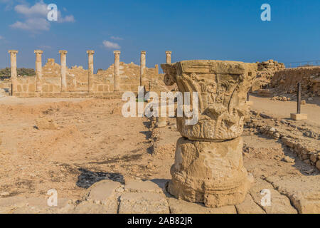 The House of Theseus in Paphos Archaeological Park, UNESCO World Heritage Site, Paphos, Cyprus, Europe - Stock Photo