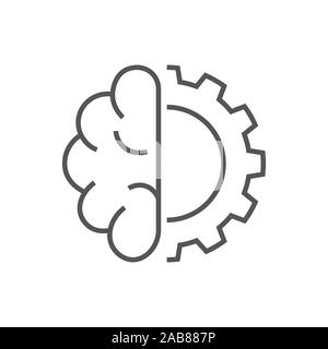 Artificial cybernetic brain. Concept of using high technology to create artificial intelligence AI . EPS 10 - Stock Photo