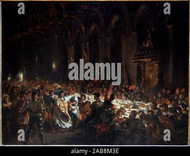 '''The Murder of the Bishop of Liege'', 1829, Eugène Delacroix, 1798-1863, Musée du Louvre, Paris, France, Europe - Stock Photo