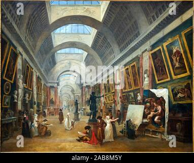 '''Project for the Transformation of the Grande Galerie of the Louvre'', 1796, Hubert Robert, Musée du Louvre, Paris, France, Europe - Stock Photo