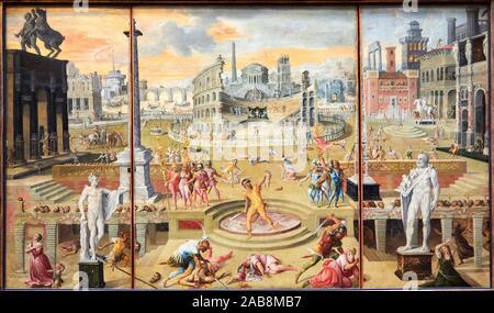'''The Massacres of the Triumvirate'', 1566, Antoine Caron, Musée du Louvre, Paris, France, Europe - Stock Photo