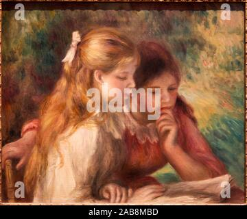 '''La Lecture'', Auguste Renoir (1841-1919), Musée du Louvre, Paris, France, Europe - Stock Photo