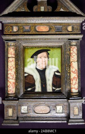 '''Portrait of Jean d'Albon, Lord of Saint-André'', 1550, Atelier de Corneille de Lyon, Musée du Louvre, Paris, France, Europe - Stock Photo