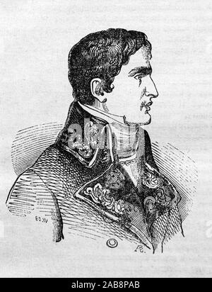 Lucien Bonaparte, Prince Français, 1st Prince of Canino and Musignano (born Luciano Buonaparte; 21 May 1775 – 29 June 1840), the third surviving son - Stock Photo