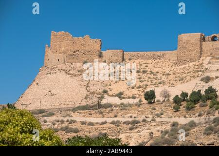 medieval crusaders castle, Al Karak, Jordan, Middle East. - Stock Photo
