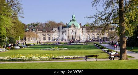 The spa house (Imperial Palace) at the highest point in the spa park of Bad Oeynhausen. Weser Hills, East Westphalia, North Rhine-Westphalia, - Stock Photo