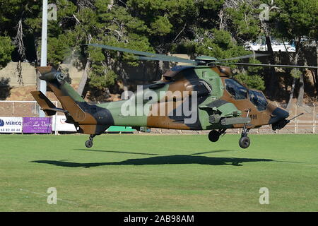 FRENCH ARMY EUROCOPTER TIGRE (TIGER) ASSAULT HELICOPTER.  SAME TYPE AS CRASHED IN MALI 26 NOVEMBER 2019. - Stock Photo
