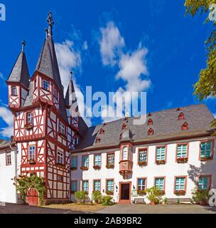 Brömserhof, Museum for Mechanical Musical Instruments, Rüdesheim, Upper Middle Rhine Valley, Hesse, Germany. - Stock Photo