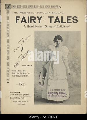 Fairy tales : a reminiscent song of childhood Additional title: There was Cinderella and Little Tom Thumb and Hop o' my Thumb so sly. [first line of - Stock Photo