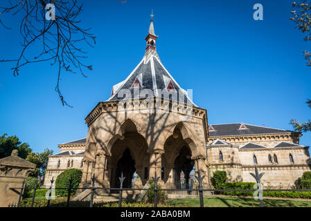 Regent Street railway station, formerly known as Mortuary railway station, was a railway station on Sydney's Rookwood Cemetery railway line. Funeral t