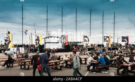Volvo Ocean Race Stopover Festival in Scheveningen, The Hague, Netherlands - 19th June 2015 (VOR 2014-2015) - Stock Photo