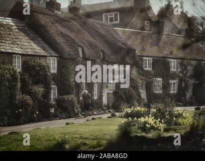 Winkle Street, Calbourne, Isle of Wight. England, UK - Stock Photo