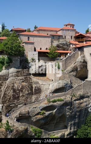 Holy Monastery of Great Meteoron, Meteora, UNESCO World Heritage Site, Thessaly, Greece