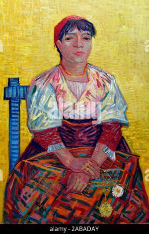 L'italienne,1887,oil on canvas,Vincent Van Gogh,Orsay museum,Paris,France. - Stock Photo