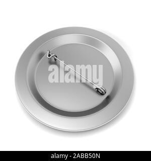 Blank badge. 3d illustration isolated on white background - Stock Photo