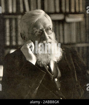 ALFRED RUSSEL WALLACE (1823-1913) British naturalist and biologist about 1895 - Stock Photo