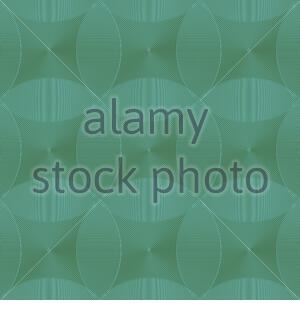 graphic circular ripples seamless pattern in green blue shades - Stock Photo