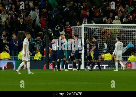 Madrid, Spain. 27th Nov, 2019. DURING MACTH OF UEFA CHAMPIONS LEAGUE REAL MADRID VERSUS PARIS SAINT GERMAIN AT SANTIAGO BERNABEU STADIUM. TUESDAY, 26 NOVEMBER 2019 Credit: CORDON PRESS/Alamy Live News - Stock Photo