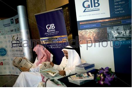 Delegates at the FIKR conference 2007 in Manama, Bahrain. - Stock Photo