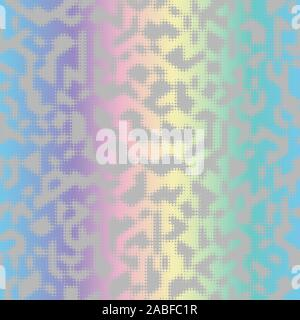Holographic ink bleed seamless pattern in rainbow - Stock Photo