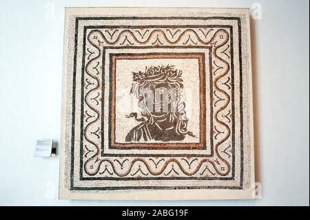 italy, rome, palazzo massimo alle terme, museo nazionale romano, national roman museum, roman mosaic (3rd century AD) - Stock Photo