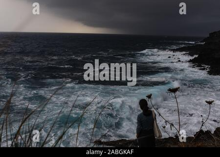 Stormy Sea in Pantelleria - Stock Photo