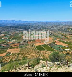 View over the valley from the Hermitage of Saint Lucy and Saint Benet, Alcossebre, Spain - Stock Photo