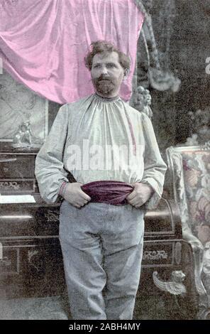 ALFONS MUCHA (1860-1939) Czech painter - Stock Photo
