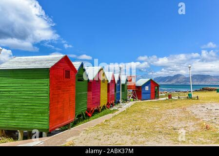 Colourful Beach Huts at St James Beach, Muizenberg, Cape Town, South Africa