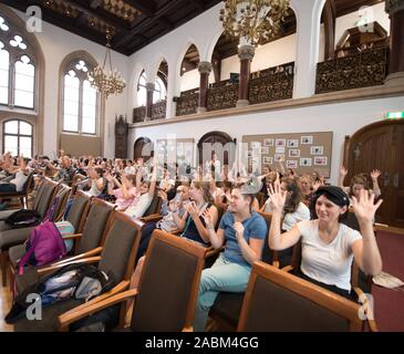 At the girls' conference in Munich City Hall, children and young women discuss with representatives from politics. [automated translation] - Stock Photo