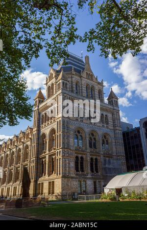 LONDON, UK - september 9, 2018: Natural History Museum facade on April 16, 2013 in London, UK. The museum collections comprise almost 70 million speci - Stock Photo