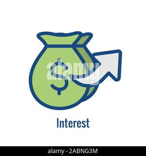 Investment - Banking Icon showing increase in amount - Stock Photo