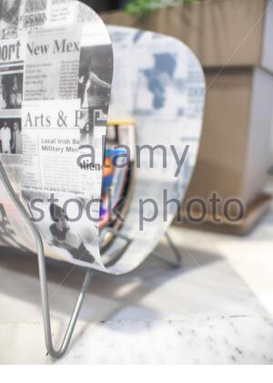 news papers and magazine holder - Stock Photo
