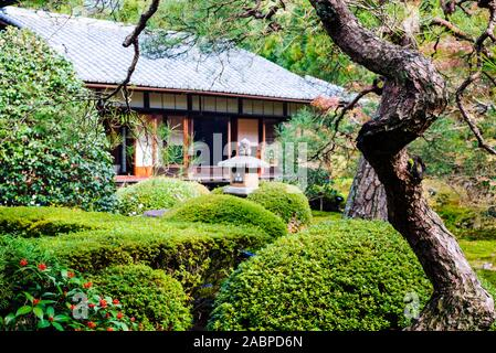 Unryu-in Temple, Kyoto: Central Japanese garden - Stock Photo