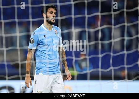 Luis Alberto of Lazio reacts during the UEFA Europa League, Group E football match between SS Lazio and CFR Cluj on November 28, 2019 at Stadio Olimpico in Rome, Italy - Photo Federico Proietti/ESPA-Images - Stock Photo