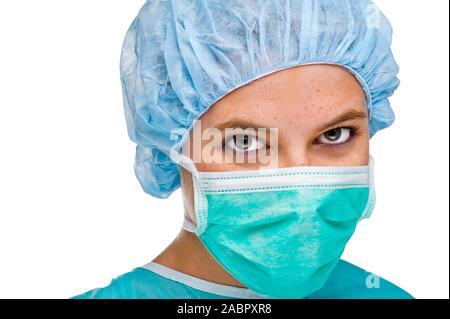 Arzt, Ärztin, OP-Schwester,MR: Yes, 25,30,35, Jahre, - Stock Photo