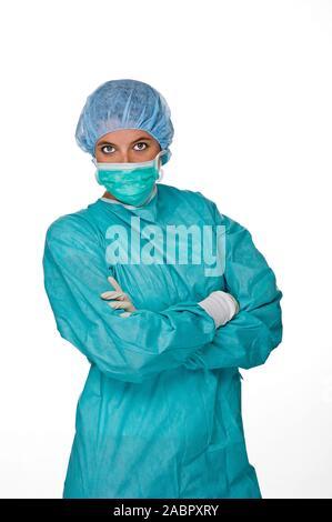Arzt, Ärztin, OP-Schwester, MR: Yes, 25,30,35, Jahre, - Stock Photo