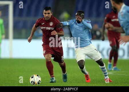 Rome, Italy. 28th Nov, 2019. Rome, Italy - November 28, 2019: Emmanuel Culio (CFR CLUJ), Bobby Adekanye (LAZIO) in action during the Uefa Europa League Group E soccer match between SS LAZIO vs CFR CLUJ, at Olympic Stadium in Rome. Credit: Independent Photo Agency/Alamy Live News - Stock Photo