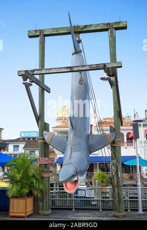 JAWS at Universal, JAWS attraction, Universal Studios Resort, Orlando, Florida, USA - Stock Photo