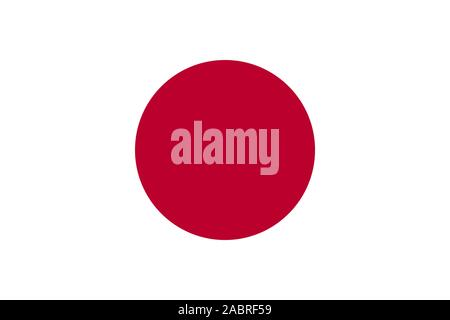Japan Flag. National flag of Japan. Vector illustration. - Stock Photo