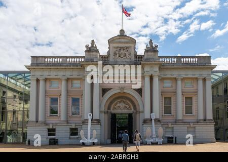 LONDON, ENGLAND - MAY 28, 2019: Historic National Maritime Museum in Greenwich, London, England - Stock Photo