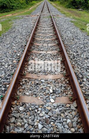 Railway track.  Kep. Cambodia.