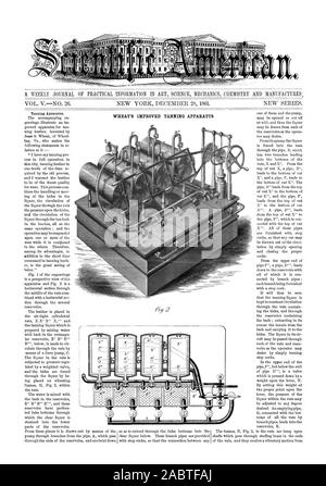 A WEEKLY JOURNAL OF PRACTICAL INFORMATION IN ART SCIENCE MECHANICS CHEMISTRY AND MANUFACTURES., scientific american, 1861-12-28 - Stock Photo