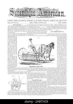 A WEEKLY JOURNAL OF PRACTICAL INFORMATION IN ART SCIENCE MECHANICS CHEMISTRY AND MANUFACTURES 1.0, scientific american, 1862-06-28 - Stock Photo