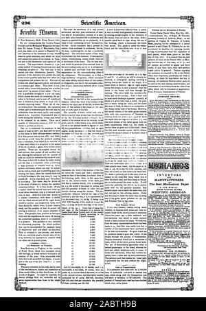 a copy of the 'History of Propellers and Steam Navigation' re-published in book form—hav ing first appeared in a series of articles published is the filth Volume of the Scientific American. ills one of the most complete works upon the subject price 75 cents. Hydraulics., 1851-05-31 - Stock Photo
