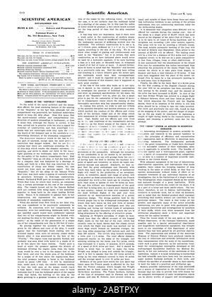 SCIENTIFIC AMERICAN MUNN & CO. - Editors and Proprietors No. 361 Broa.dwa.y New York, -1909-02-06 - Stock Photo