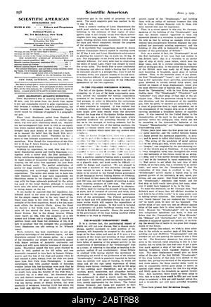 258 SCIENTIFIC AMERICAN ESTABLISHED 1845 Published Weekly at No. 361 Broadway. New York Scientific American, -1909-04-03 - Stock Photo