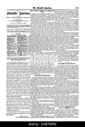 NEW YORK SATURDAY DECEMBER 10 1864. Contents: WHAT CAN BE DONE FOR INVENTORSADVICE GRATIS AND ADVICE FOR PAY. thould accompany the remittance. Page or ldress THE 'SCIENTIFIC AKERICAN' FOR THE ENSUING YEAR. IMPROVEMENT IN PHOTOGRAPHY. of the salts not acted upon by the light has been dis THE =EMT TO BURN THE CITY. DEATH OF PROFESSOR BILLIMAN., scientific american, 64-12-10