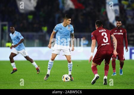 Joaquin Correa of Lazio in action during the UEFA Europa League, Group E football match between SS Lazio and CFR Cluj on November 28, 2019 at Stadio Olimpico in Rome, Italy - Photo Federico Proietti/ESPA-Images - Stock Photo