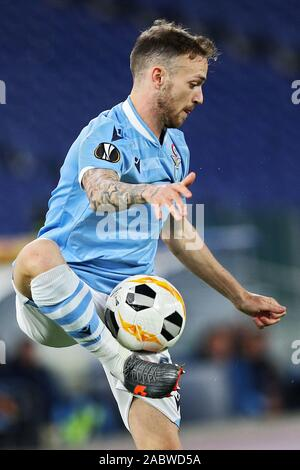 Manuel Lazzari of Lazio in action during the UEFA Europa League, Group E football match between SS Lazio and CFR Cluj on November 28, 2019 at Stadio Olimpico in Rome, Italy - Photo Federico Proietti/ESPA-Images - Stock Photo